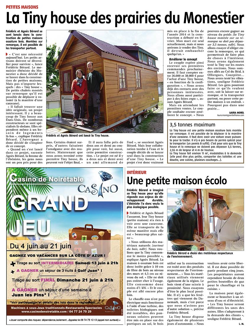 article sur tiny house concept